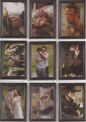 "Walking Dead Season 3 - ""The Grimes Family"" Set of 9 Shadowbox Cards GF01-09"