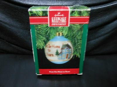"Hallmark Keepsake ""From Our Home To Yours"" 1990 Glass Ornament USED"