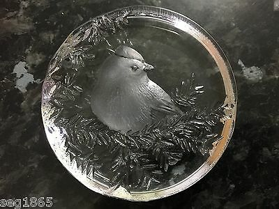 Mats Jonasson Paperweight - Bird - Signed