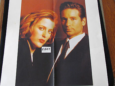 1990's Magazine Poster X-FILES - MULDER, SCULLY - Anderson, Duchovny