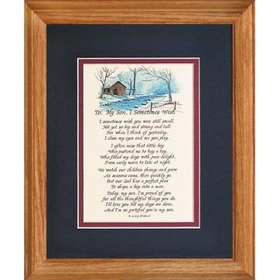 To My Son, Framed Sentiment