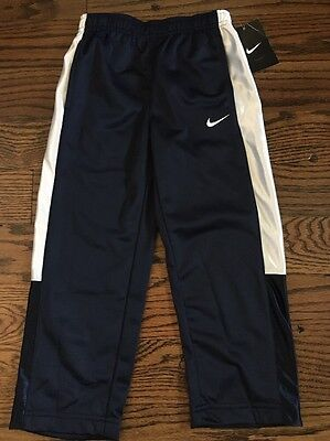 New Boys Nike Athletic Pants Bottoms youth Size 4 Navy & White New