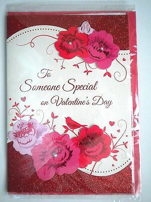 """Luxury Embellished 3D """"to Someone Special On Valentine""""s Day"""" Greeting Card"""