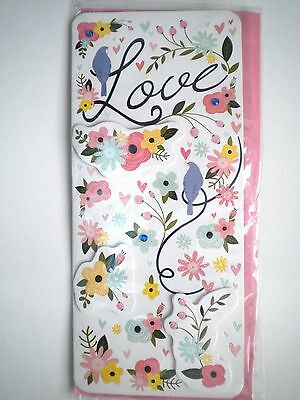 """Luxury Embellished 3D """"love"""" Valentines Day Greeting Card"""