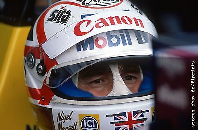 Nigel MANSELL. British F1 GP. Vintage 35mm slide. S203