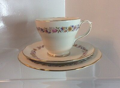 "Duchess "" Meadowsweet "" Cup, Saucer And Side Plate Trio c1960s"