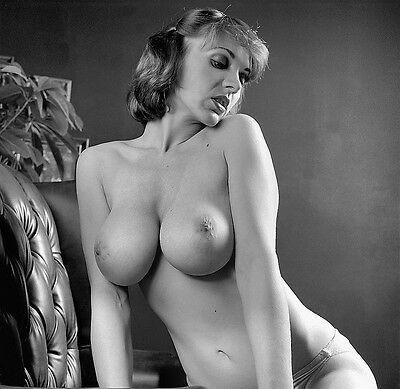 1960s Lovely Blonde Nude Pinup Triple D Breasts 8 x 8 Photograph