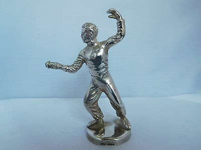 Good Quality English Solid Sterling Silver Fencing Car Mascot - Birm 1962