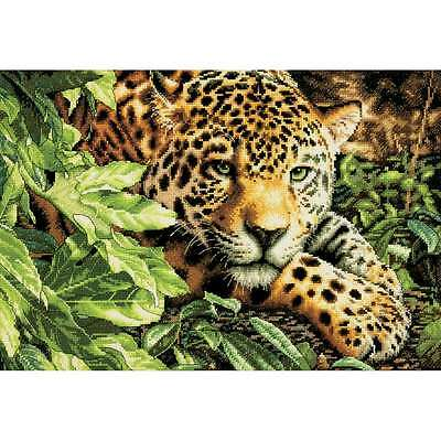 Gold Collection Leopard In Repose Counted Cross Stitch Kit-16 Inch 088677353001