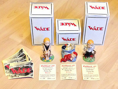 Wade - Collect It! Set Of 3 Fairies, Boxed With Certificate (1998/99) Superb!