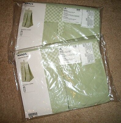 315  Ikea NANIG Light Green Quilted & Gingham Diaper Stacking Organizer