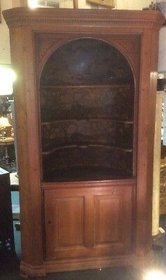 George II Period Painted Barrel Back Corner Cabinet, England c. 1750, ORIGINAL