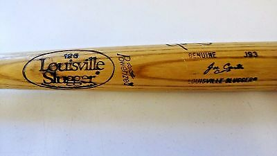 Joe Carter Cleveland Indians late 1980s Game Used AUTOGRAPHED Bat NICE