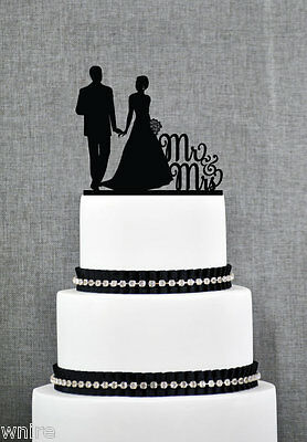 NEW Mr & Mrs silhouette Wedding cake Toppers