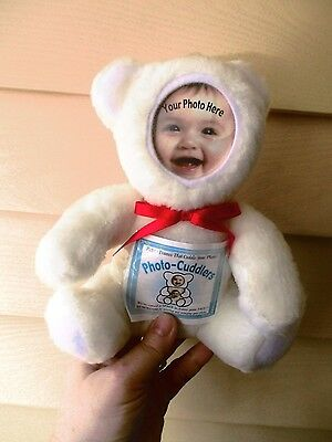 Photo Cuddlers white bear-for your baby's photo