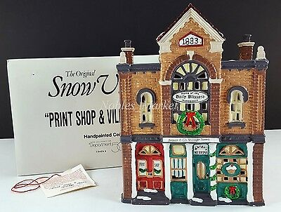Dept 56 Snow Village Print Shop & Village News Building 54259