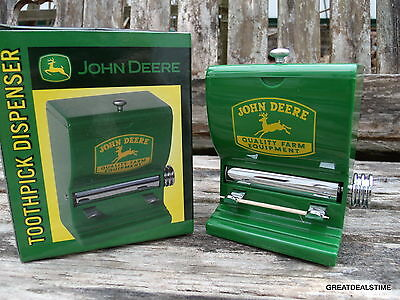 John Deere Diner Style Toothpick Dispenser/rare,rustic Country Farm Decor/shop