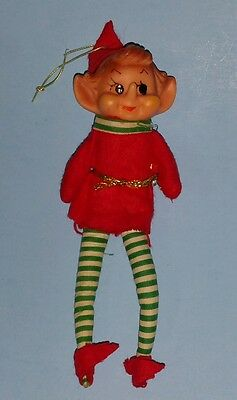 Vintage Christmas Elf Ornament Bendable made in Japan