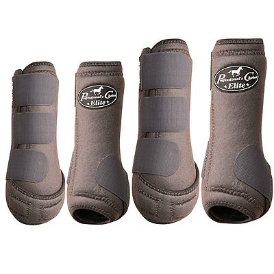 Medium Professional Choice Elite Sports Horse Medicine Boot 4 Pack Charcoal