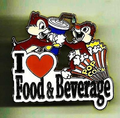 Cast Member Exclusive Chip & Dale I Love My Role Food And Beverage Disney Pin