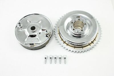 Rear Mechanical Brake Drum Kit Chrome,for Harley Davidson motorcycles,by V-Twin
