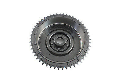 Cast Rear Hydraulic Brake Drum Black,for Harley Davidson motorcycles,by V-Twin