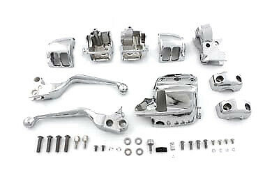 Chrome Handlebar Control Kit,for Harley Davidson motorcycles,by V-Twin