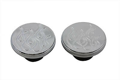 Flame Style Gas Cap Set Vented and Non-Vented fits Harley Davidson,V-Twin 38-...
