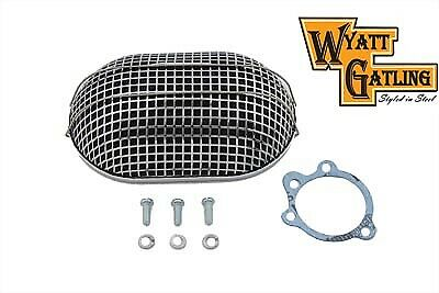 Wyatt Gatling Chrome Turbo Air Cleaner,for Harley Davidson motorcycles,by V-Twin