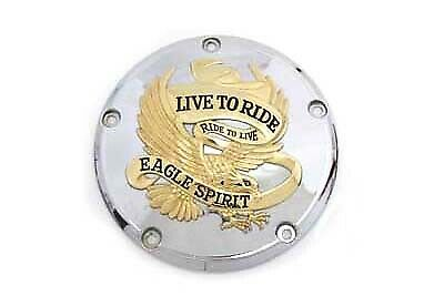 5-Hole Derby Cover Gold Inlay fits Harley Davidson,V-Twin 42-0849