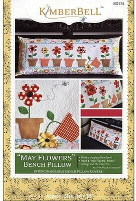May Flowers Bench Pillow Cover Machine Embriodery Designs DVD