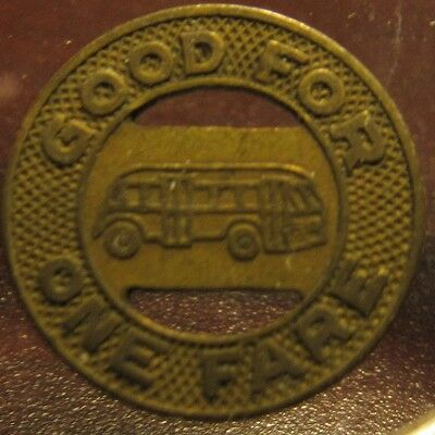 1946 Florence, SC Coach Company Transit Bus Token - South Carolina