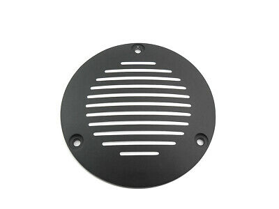 Black Grooved 3-Hole Derby Cover,for Harley Davidson motorcycles,by V-Twin