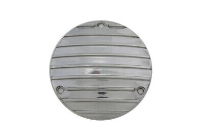 Finned Derby Cover Polished fits Harley Davidson,V-Twin 42-0102