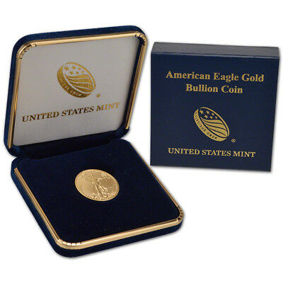 2017 American Gold Eagle (1/4 oz) $10 - BU coin in U.S. Mint Gift Box