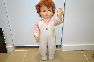 """Vintage ROYAL CANADA 21"""" 1960s vinyl articulated girl DOLL baby dressed up child"""