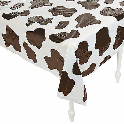 Western Party Supplies Cowboy Farm Cow Plastic Tablecloth Table Cover