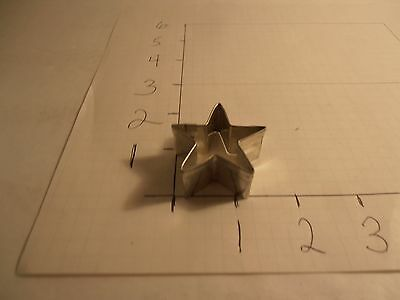 Five Point Star Miniature Metal Cookie Cutter Christmas Craft Holiday Flag