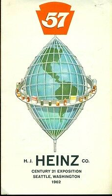 HEINZ 4-page illustrated 1962 Seattle World's Fair brochure
