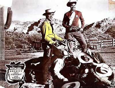 Pardners 1956 German lobby card - Jerry Lewis / Dean Martin