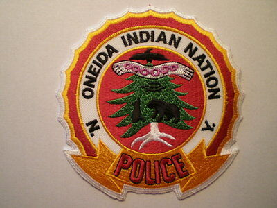 NY New York Oneida Nation Indian Tribe Tribal police patch