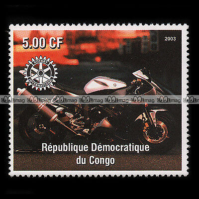 ★YAMAHA YZF 1000 R1 ★ CONGO Timbre Moto 2003 / Motorcycle Stamp #168