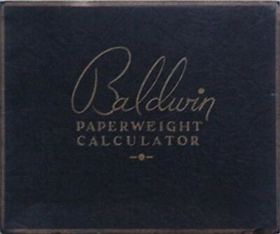 1919 Baldwin Paper Company (New York) Paperweight Calculator Booklet