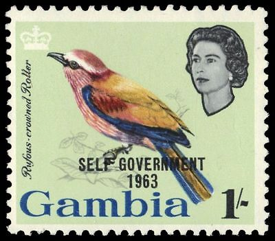 """GAMBIA 190 (SG208) - Self-Government """"Rufous-crowned Roller"""" (pa79044)"""