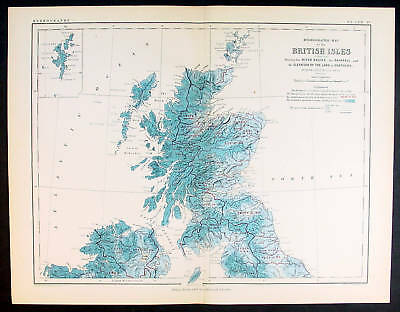 1873 Johnston Antique Hydrographical Maps Great Britain