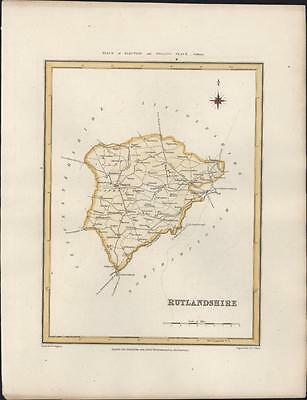 1831 Walker, Lewis Antique Map of The English County of Rutland