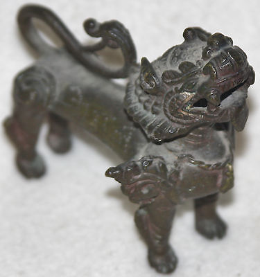 Chinese Qing Dynasty (mid-19th Century) Cast Bronze Dragon Figure Incense Burner