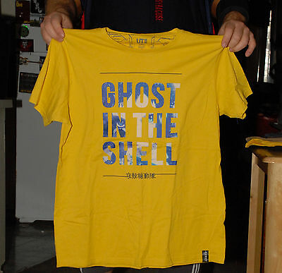 Ghost In The Shell T Shirt Xl Yellow Anime Movie Video Game Manga Nm Nm-