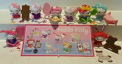 Hello Kitty Russia, Russland, all figures are variants, compl. set incl. all Bpz