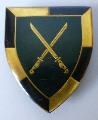 SOUTH AFRICA ARMY SCHOOL OF INFANTRY .303 RIFLE BAY~NET1980's ARM FLASH BADGE